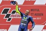 Dramatiškose Olandijos GP lenktynėse – pirma V.Rossi pergalė po daugiau nei metų pertraukos