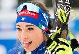 Pasaulio biatlono taurėje – Italijos gražuolės pergalė ir dar viena prasta diena lietuvėms