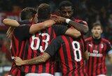 """""""AC Milan"""" pergalę vietiniame čempionate išplėšė 97-ąją minutę"""