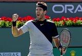 R.Federerio varžovu finale tapo J.M.Del Potro