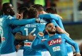 """Italijos """"Serie A"""": Milano """"Inter"""" nepalaužė lygos autsaiderių, """"Napoli"""" iškovojo eilinę pergalę"""