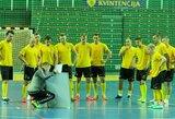 Lietuvos salės futbolo rinktinei – ankstyvas iššūkis atrankoje į pasaulio čempionatą