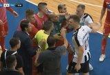 """""""Vyčio"""" mūšis su rusais Čempionų lygoje: išvytas vartininkas, vos nekilusios muštynės su treneriu ir atsarginio vartų sargo įvartis"""