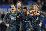 """Jausmingos """"Leicester City"""" rungtynės: tylos minutė, padėka žuvusiam klubo savininkui ir saldi pergalė"""