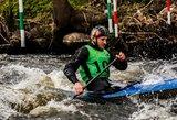 Vilniaus baidarių ir kanojų slalomo čempionate M.Atmanavičius laimėjo tai, ko dar nebuvo pavykę niekam
