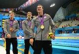 M.Phelpsas Londone pagaliau iškovojo aukso medalį ir tapo pasaulio rekordininku