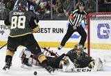 """Pamatykite: fantastiškas M.Fleury žaidimas ir antroji """"Golden Knights"""" pergalė NHL Vakarų konferencijos finale"""
