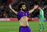 """Fantastišką įvartį pelnęs M.Salah: """"Tikimės, kad """"Man City"""" praras taškus"""""""