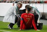 Barselonoje viešintis traumuotas C.Ronaldo sužinojo, kiek laiko nerungtyniaus