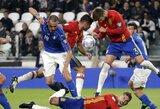 Italijos ir Ispanijos lygiosios pažymėtos grubiomis klaidomis gynyboje