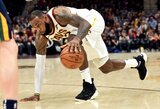 """60-asis L.Jameso karjeros trigubas dublis ir """"Cavaliers"""" pergalė"""