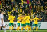 Lietuvos futbolo rinktinė sužais kontrolines rungtynes su estais