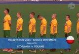 Lietuvos vyrų žolės riedulio rinktinė pralaimėjimu baigė čempionatą Gibraltare