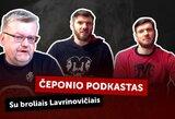 """V.Čeponio """"podcaste"""" – broliai Lavrinovičiai: apie karantino būtinybę, karjeros pabaigą ir knygas"""