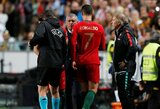 """Portugalijos strategas F.Santosas negailėjo liaupsių """"hat-tricką"""" pelniusiam C.Ronaldo: """"Jis – genijus"""""""