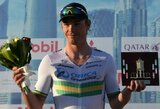 """Trečiąjį """"Tour of Qatar"""" dviračių lenktynių etapą laimėjo A.Kruopio komandos draugas"""