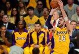 """M.Gasolio baudų metimai išplėšė pergalę """"Lakers"""" komandai"""
