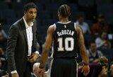 """T.Duncanas stojo prie """"Spurs"""" vairo ir šventė pergalę"""