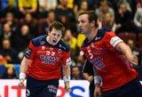 Norvegai pateko į Europos rankinio čempionato pusfinalį, vengrų situacija komplikavosi