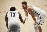 """""""Nets"""" be dviejų žvaigždžių laimėjo Portlande"""