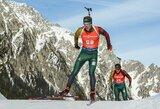 Mišrių porų estafetėje lietuviai aplenkti ratu, pasaulio čempionais tapo Norvegijos biatlonininkai