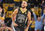 """Kas minutę po tašką rinkęs S.Curry padėjo atlaikyti """"Pelicans"""" šturmą"""