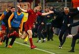 """Sensacija: """"Barceloną"""" patiesusi """"Roma"""" įspūdingai žengė į Čempionų lygos pusfinalį"""