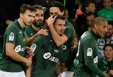 """Prancūzijoje – septyni įvarčiai ir dramatiška """"Saint-Etienne"""" ekipos pergalė"""