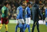 Brazilijos rinktinės pergalę apkartino Neymaro patirta trauma