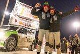 """""""Winter Rally"""" nugalėjo čekų ekipažas, V.Žala išgyveno pragariškai sunkią dieną"""