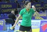 Tarptautiniame badmintono turnyre Belgijoje A.Stapušaitytė suklupo jau pirmame rate