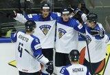 Suomiai netikėtai lengvai sutriuškino kanadiečius, rusai išvargo pergalę prieš šveicarus