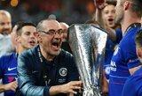 """M.Sarri prisiminė darbą """"Chelsea"""" klube: konfliktai su žaidėjais ir pastarųjų ašaros jam pranešus apie išvykimą"""
