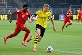 """Paskaičiuota: kokį greitį išvystė 19-metis """"Bayern"""" talentas, gaudydamas E.Haalandą?"""