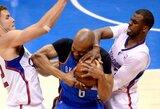 """46 minutes varžovus besiviję """"Clippers"""" krepšininkai patiesė """"Thunder"""" klubą ir išlygino serijos rezultatą"""
