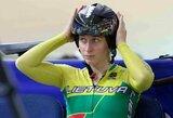 V.Šumskytė pradėjo Europos jaunimo dviračių treko čempionatą: skreče finišavo 10-a