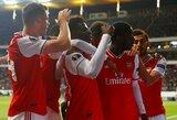 """""""Arsenal"""" išvykoje sutriuškino dešimtyje rungtyniauti likusį """"Eintracht"""", G.Arlauskio atstovaujamas klubas įveikė """"Lazio"""""""