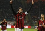 """M.Balotelli ir Kaka įvarčiai leido """"Milan"""" švęsti dar vieną pergalę Italijoje"""