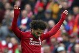 """M.Salah ir vėl pasižymėjo įvarčiu, o """"Liverpool"""" įveikė """"Southampton"""""""