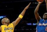 """Los Andželo derbyje – didžiausias pralaimėjimas """"Lakers"""" klubo istorijoje"""
