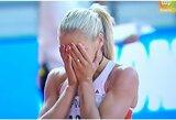 Į pasaulio čempionato medalį pretendavusi septynkovininkė I.Dadič jau pirmąją rungtį baigė su ašaromis akyse