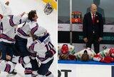 Įspūdingas vartininko žaidimas ir JAV ketvirtas laimėtas finalas prieš Kanadą, Suomija antrą kartą per 11 pastarųjų metų Rusiją paliko be medalių