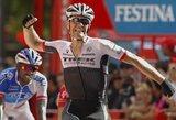 """Aštuntajame """"Vuelta a Espana"""" etape triumfavo J.Stuyvenas, G.Bagdonas – antrajame šimtuke"""