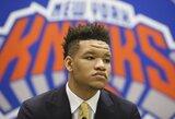 """K.Porzingis išreiškė palaikymą nušvilptam """"Knicks"""" naujokui"""