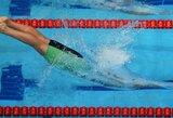Europos jaunimo olimpiniame festivalyje trečiadienį Lietuvos plaukikai į finalus nepateko