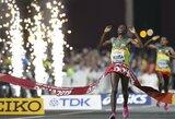 Sekinančiame maratone nugalėjusius Etiopijos bėgikus skyrė 4 sekundės