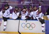 Latviai patiesė šveicarus ir pirmą kartą istorijoje pateko į olimpinių žaidynių ketvirtfinalį