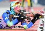 Lietuvos biatlonininkės nepateko į pasaulio taurės etapo Austrijoje persekiojimo lenktynes