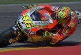 V.Rossi apgailėstauja dėl padarytos klaidos pirmajame lenktynių rate