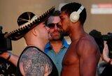A.Joshua numetė svorio prieš revanšinę kovą, A.Ruizas svėrė daugiausiai per 10 metų